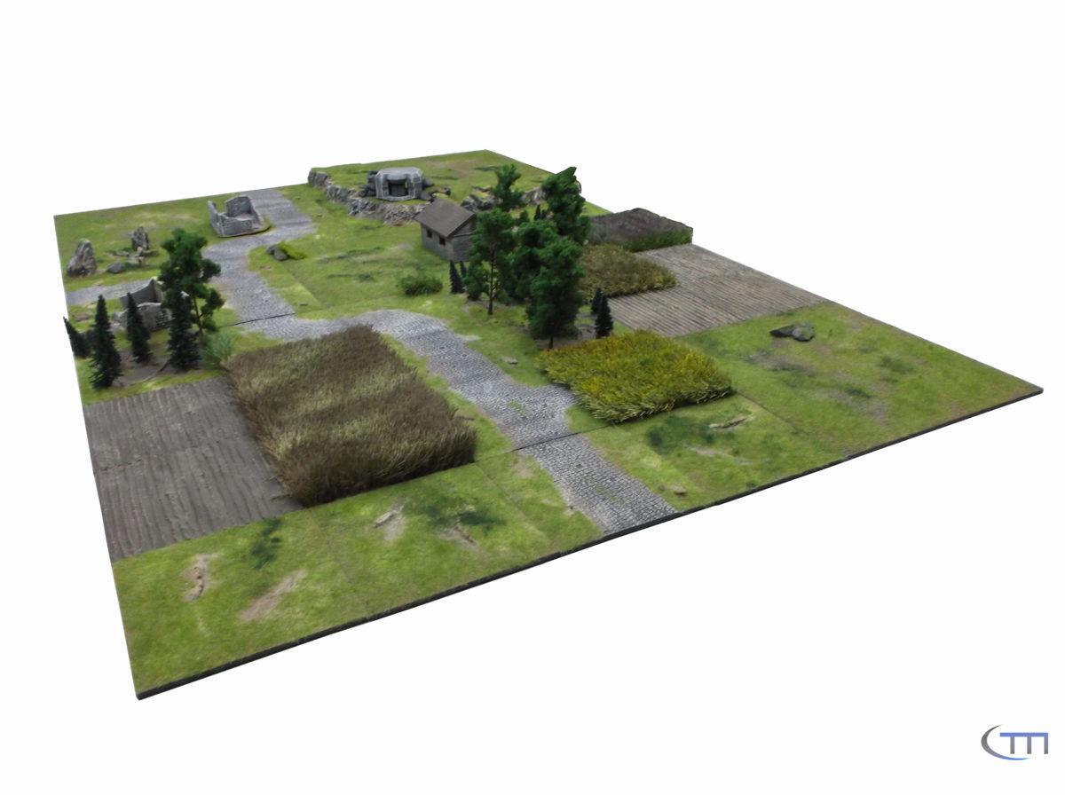 Modulares Gelände 1,80 m X 1,20 m (28mm)
